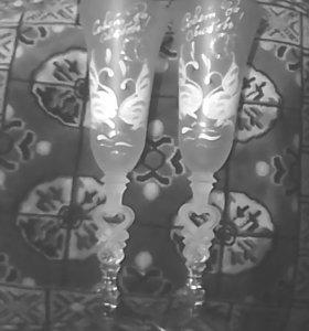 Свадебные бокалы срочно