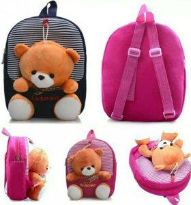 Рюкзачок для девочки с игрушкой
