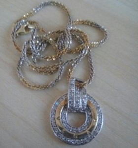 Кулон серебро 925 пробы с позолотой