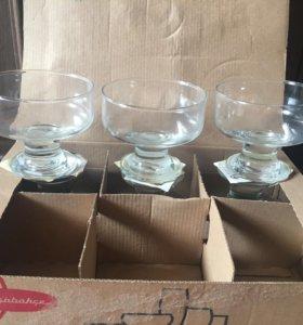 Новые Креманки стеклянные 6 шт