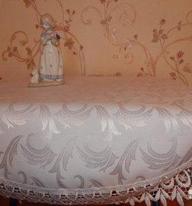 Скатерть на круглый стол (новая)