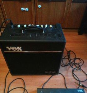 Комбоусилитель vox vt80+ ножной переключатель