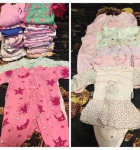 Вещи пакетом на девочку от 0-6 месяцев