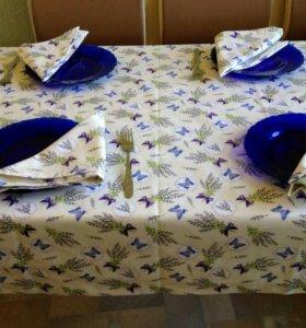 Скатерть на стол Лаванда. Ручная работа