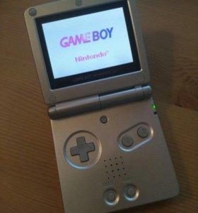 Game Boy Advance SP + Игры