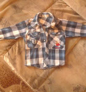 Рубашки и кофты на мальчика от 9 мес. до 1,5