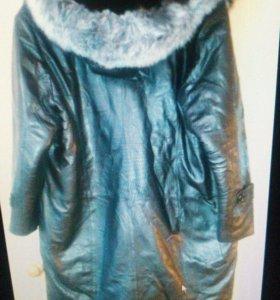 Продам пальто кожаное