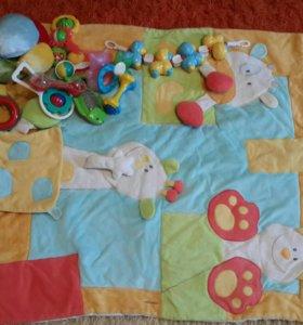 Развивающий коврик+игрушки