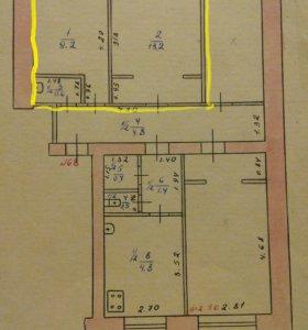 Комната, 22.4 м²