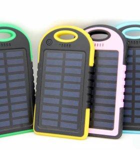 Power Bank B02 5000 мАч на солнечных элементах