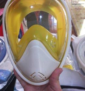 Маска полнолицевая жёлтая новая