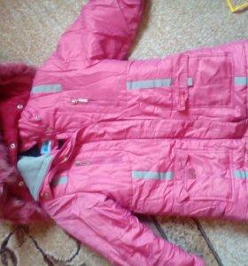 Зимняя куртка рост 134 см