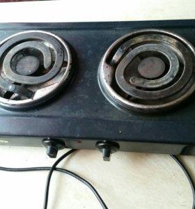 Двухкомфорочная электрическая плита