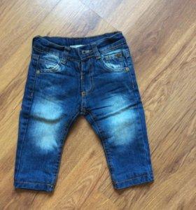 Утеплённые джинсы, 3-6 месяцев