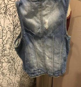 Жилет джинсовый инсити