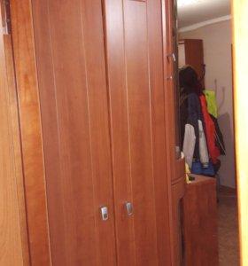 Шкаф с угловым стеклянным