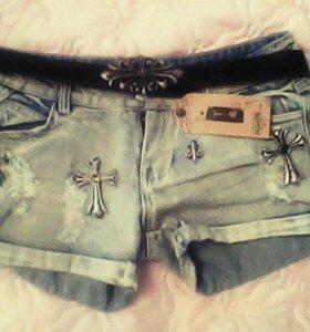 шорты,бриджи джинсовые