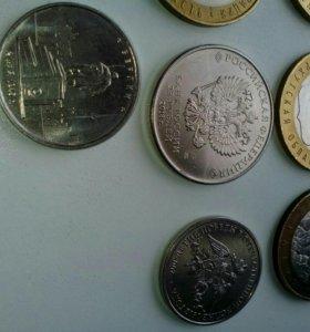 Юбилейные монеты 25, 10, 5, 2 и один евро