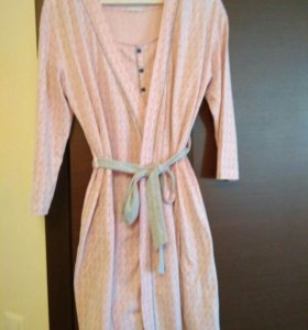 Комплект ночная сорочка и халат