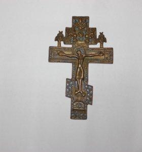 Бронзовый крест-распятие 19 века
