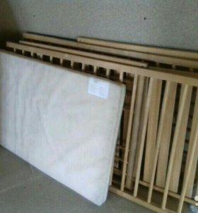 Сниглар детская кроватка с матрасом из икеи