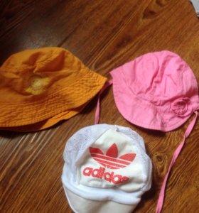 Летние шапочки до года