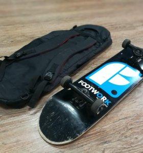 Профессиональный скейт Footwork + сумка переноской