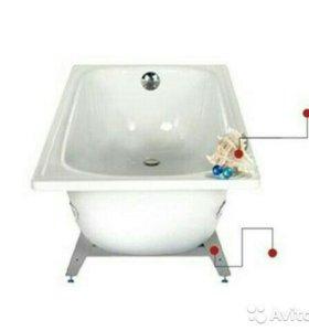 Ванна металическаяВиз Antika белая орхидея 1,7x0,7