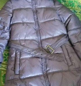 Зимнее пальто для девочки. Размер 128.