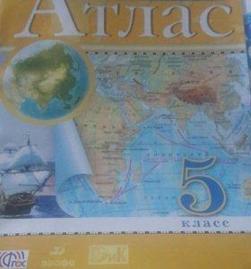 Атлас по географии,5 класс,Дрофа