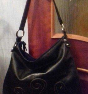 Черная сумка с котиками