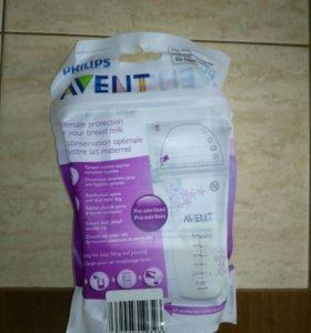 Пакеты для сбора и хранения грудного молока Avent