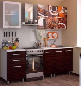 Кухня 1.6м МДФ Фотопечать. Новая!