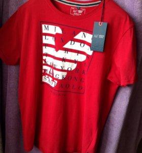 Футболка Armani Jeans красная