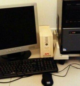 Системный блок, монитор, сканер, ИБП, подставка