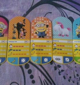 Карточки Гадкий Я 3 миньены