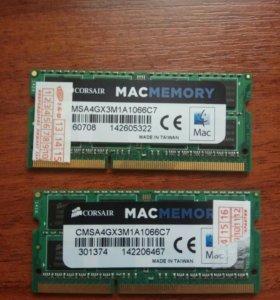 Оперативная память Corsair mac memory ddr3 4gb