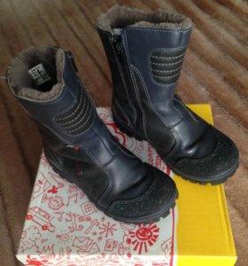 Сапоги зимние, детские, кожаные для мальчика
