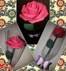 Розы и тюльпаны из фоамирана