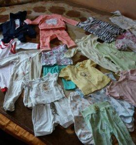 Детские вещи для девочки 68р. (пакетом)