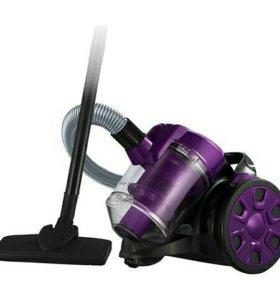 Пылесос HOME ELEMENT черный/фиолетовый (487910)