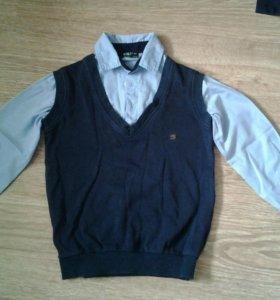 Школьная рубашка жилетка