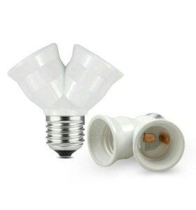 двойник-патрон Е27 для лампочек