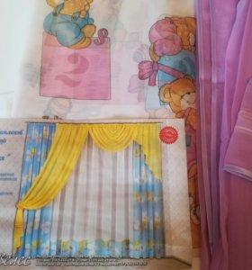 Новый комплект штор для детской