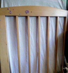 срочно ддетская кровать с ортопед каркасом