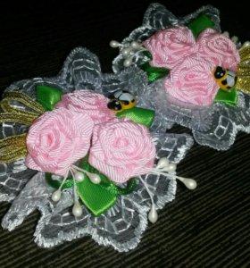 Детские резиночки для волос ручной работы