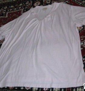 красивая женская футболка 50 52 р розовая XXL