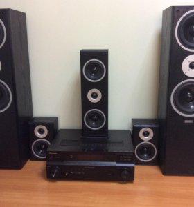 Колонки Sound Pro SP-2S и ресивер Pioneer VSX-418