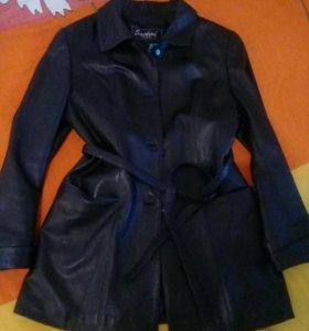 Куртка кожаная(осень,весна)