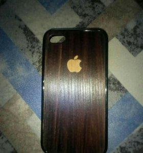 Чехол кейс деревянный iphone 4-4s